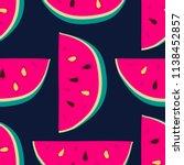 vector watermelon background... | Shutterstock .eps vector #1138452857