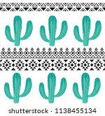 seamless vector pattern with... | Shutterstock .eps vector #1138455134