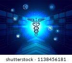 medical biotechnology...   Shutterstock .eps vector #1138456181