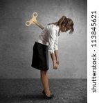 concept of a tired businesswoman | Shutterstock . vector #113845621