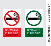 no smoking and smoking area... | Shutterstock .eps vector #1138458167