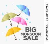 happy monsoon season sale...   Shutterstock .eps vector #1138463951