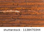 rust on old zinc plate roof on... | Shutterstock . vector #1138470344
