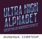 ultra high alphabet. vibrant... | Shutterstock .eps vector #1138474169