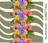 seamless pattern with beautiful ... | Shutterstock . vector #1138477451