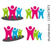 vector people pictograms | Shutterstock .eps vector #113847871