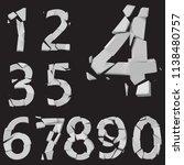 3d styled vector fractured...   Shutterstock .eps vector #1138480757