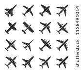 Aircraft Icon Set. Airplanes...