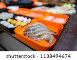 select focus fresh shrimp in... | Shutterstock . vector #1138494674