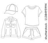fashion women's clothing | Shutterstock .eps vector #1138495994