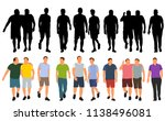 silhouette people go  crowd ... | Shutterstock .eps vector #1138496081