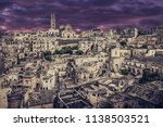 view of matera at twilight ...   Shutterstock . vector #1138503521