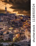 view of matera at twilight ...   Shutterstock . vector #1138503524