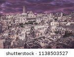 view of matera at twilight ...   Shutterstock . vector #1138503527