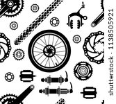 bicycles. seamless vector... | Shutterstock .eps vector #1138505921
