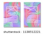 summer poster with bright... | Shutterstock .eps vector #1138512221