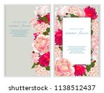 vector banners set with summer... | Shutterstock .eps vector #1138512437