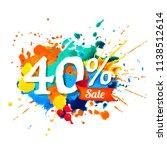 forty percents sale. vector... | Shutterstock .eps vector #1138512614
