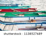 old wooden boats at a mooring... | Shutterstock . vector #1138527689