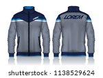 jacket design sportswear track...   Shutterstock .eps vector #1138529624