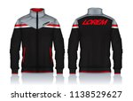 jacket design sportswear track... | Shutterstock .eps vector #1138529627