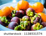 close up mangosteen and some... | Shutterstock . vector #1138531574