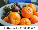close up oranges and mangosteen ... | Shutterstock . vector #1138531577