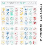infographics concept icons of... | Shutterstock . vector #1138532681