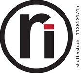 ri letter vector logo | Shutterstock .eps vector #1138534745