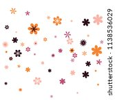 feminine floral pattern with... | Shutterstock .eps vector #1138536029