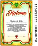 diploma blank template. colored ...   Shutterstock .eps vector #1138539311