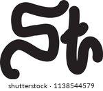 st letter vector logo | Shutterstock .eps vector #1138544579