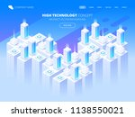 hosting services  data center ... | Shutterstock .eps vector #1138550021