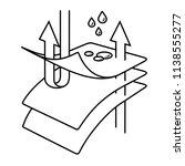 membrane fabric. vector flat... | Shutterstock .eps vector #1138555277