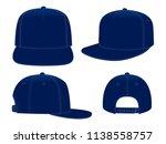 navy blue hip hop cap   snap... | Shutterstock .eps vector #1138558757