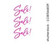 sale sale sale hand brush... | Shutterstock .eps vector #1138566839