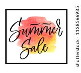 summer sale lettering on red... | Shutterstock .eps vector #1138566935