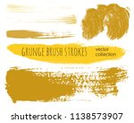 paint lines grunge collection....   Shutterstock .eps vector #1138573907