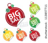 big sale christmas ball sticker ...