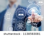 cloud computing information... | Shutterstock . vector #1138583081