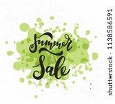 summer sale card. hand drawn... | Shutterstock .eps vector #1138586591