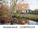 panoramic view of marken  a... | Shutterstock . vector #1138595114