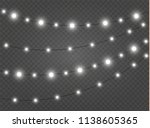 christmas lights isolated... | Shutterstock .eps vector #1138605365