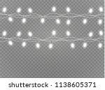 christmas lights isolated... | Shutterstock .eps vector #1138605371