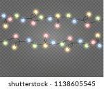 christmas lights isolated... | Shutterstock .eps vector #1138605545