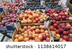 plums in various colors yellow... | Shutterstock . vector #1138614017