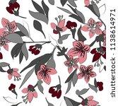 blossom flowers seamless vector | Shutterstock .eps vector #1138614971