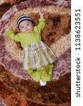 male kid post for portrait... | Shutterstock . vector #1138623551