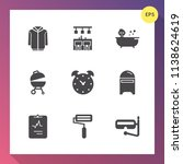 modern  simple vector icon set... | Shutterstock .eps vector #1138624619