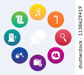 modern  simple vector icon set... | Shutterstock .eps vector #1138629419